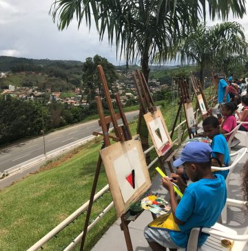Kids Painting for Arte na Praca